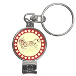 Leaping donkey Nail Clippers Key Chain