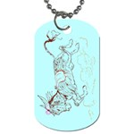 Leaping donkey Dog Tag (One Side)