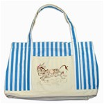Leaping donkey Striped Blue Tote Bag