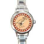 Naughty donkey Round Italian Charm Watch