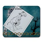 Naughty donkey Large Mousepad