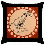 Naughty donkey Throw Pillow Case (Black)