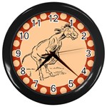Naughty donkey Wall Clock (Black)