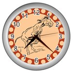 Naughty donkey Wall Clock (Silver)