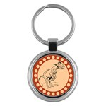Naughty donkey Key Chain (Round)