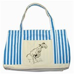 Naughty donkey Striped Blue Tote Bag