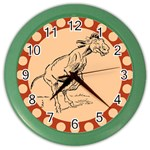 Naughty donkey Color Wall Clock
