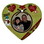 caitlyn ornament - Heart Ornament (Two Sides)