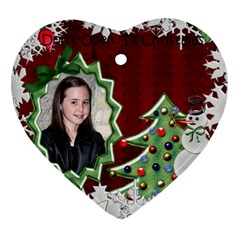 Caitlyn Ornament By Cindy   Heart Ornament (two Sides)   6p8tbuqy2kvz   Www Artscow Com Back