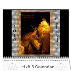 Burning Man Art And Cars 2010 By Karl Bralich   Wall Calendar 11  X 8 5  (12 Months)   Oqpucbd6d14z   Www Artscow Com Cover