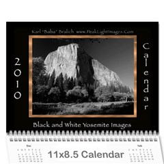 B&w Calendar Yosemite And More  2010 12 Month By Karl Bralich   Wall Calendar 11  X 8 5  (12 Months)   1pxkh1pzoeu8   Www Artscow Com Cover