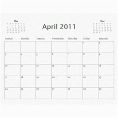 B&w Calendar Yosemite And More  2010 18 Month By Karl Bralich Apr 2011