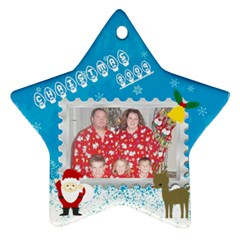 Christmas 09 By Lynde   Star Ornament (two Sides)   Hk6lco68twvz   Www Artscow Com Front