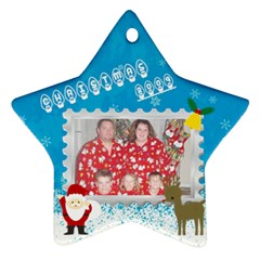 Christmas 09 By Lynde   Star Ornament (two Sides)   Hk6lco68twvz   Www Artscow Com Back