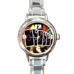 POKER700X600 Round Italian Charm Watch