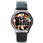 POKER700X600 Round Metal Watch