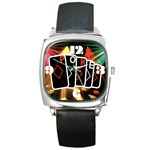 POKER700X600 Square Metal Watch
