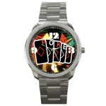 POKER700X600 Sport Metal Watch