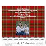 calendar christmas project - Wall Calendar 11  x 8.5  (12-Months)