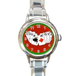 YOURMOVECARDS700X600 Round Italian Charm Watch