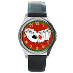 YOURMOVECARDS700X600 Round Metal Watch