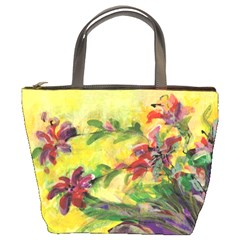 Uncontrolled Lilies By Alana   Bucket Bag   Ajnrdlbf6sdu   Www Artscow Com Front