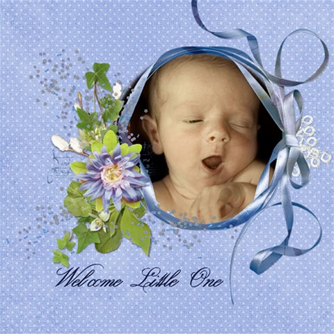 Welcome Little One By Diann   Scrapbook Page 8  X 8    4dj84k9vv4ca   Www Artscow Com 8 x8 Scrapbook Page - 1