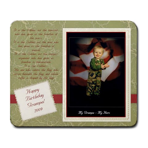 My Grampa   My Hero By Rachel   Large Mousepad   Zjhz5wr3di0e   Www Artscow Com Front