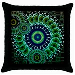 AbstractCircles Throw Pillow Case (Black)