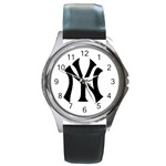 HOT NEW NY LOGO ROUND METAL WATCH RARE ITEM**
