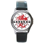 NEW HOT RARE BAKUGEN LOGO ROUND METAL WATCH