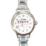TWILIGHT SAGA EDWARD CULLEN NEW HOT ROUND ITALIAN CHARM WATCH
