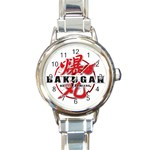 NEW BAKUGEN LOGO HOT ROUND ITALIAN CHARM WATCH