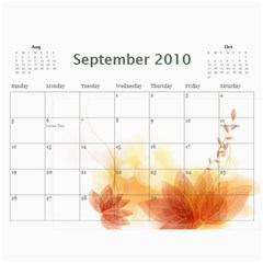 Nature Calendar By Wood Johnson   Wall Calendar 11  X 8 5  (12 Months)   Msh63k1uue0y   Www Artscow Com Sep 2010