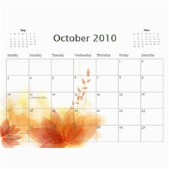 Nature Calendar By Wood Johnson   Wall Calendar 11  X 8 5  (12 Months)   Msh63k1uue0y   Www Artscow Com Oct 2010