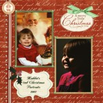 Maddie s 2007 Christmas Portraits 12x12 - ScrapBook Page 12  x 12