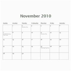 Family Calendar By Amy   Wall Calendar 11  X 8 5  (12 Months)   757j1ytrq4bl   Www Artscow Com Nov 2010