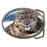 Snow Leopard Belt Buckle