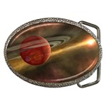 Saturn-paint Belt Buckle