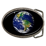 Earth-and-Moon-from-Space Belt Buckle