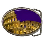 The Colosseum at Night, Rome, Italy Belt Buckle