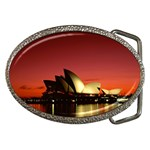 Scarlet Night, Sydney Opera House, Sydney, Australia Belt Buckle