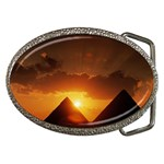 Pyramids At Sunset Belt Buckle