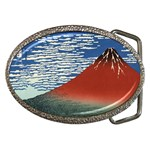 Red_Fuji_southern_wind_clear_morning Belt Buckle