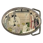 Kiyonaga_bathhouse_women-2 copy Belt Buckle