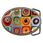 Farbstudie Quadrate Belt Buckle