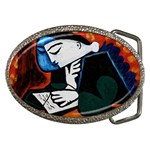 girl reading Belt Buckle