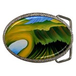 Mountains and Lake Belt Buckle