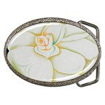 white camelia Belt Buckle