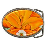 yellow hickory leaves Belt Buckle